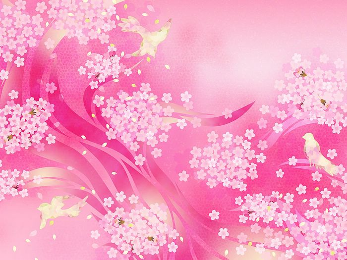 Pink sweet floral background 19201600 13 wallcoo sweet floral pattern design colors in japanese stylevol01 pink mightylinksfo