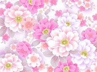 Sweet Floral Pattern Design - Colors in Japanese Style(Vol.01)50 pics