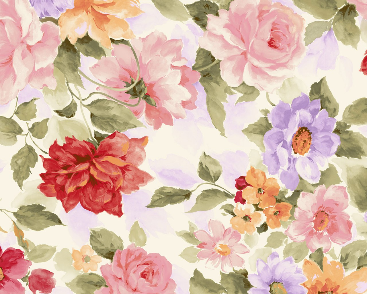Flower Pattern Wallpaper Magnificent Decoration