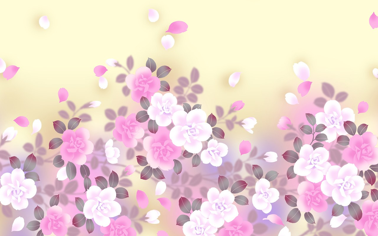 Colors in Japanese Style - Sweet Flower Pattern Design ...