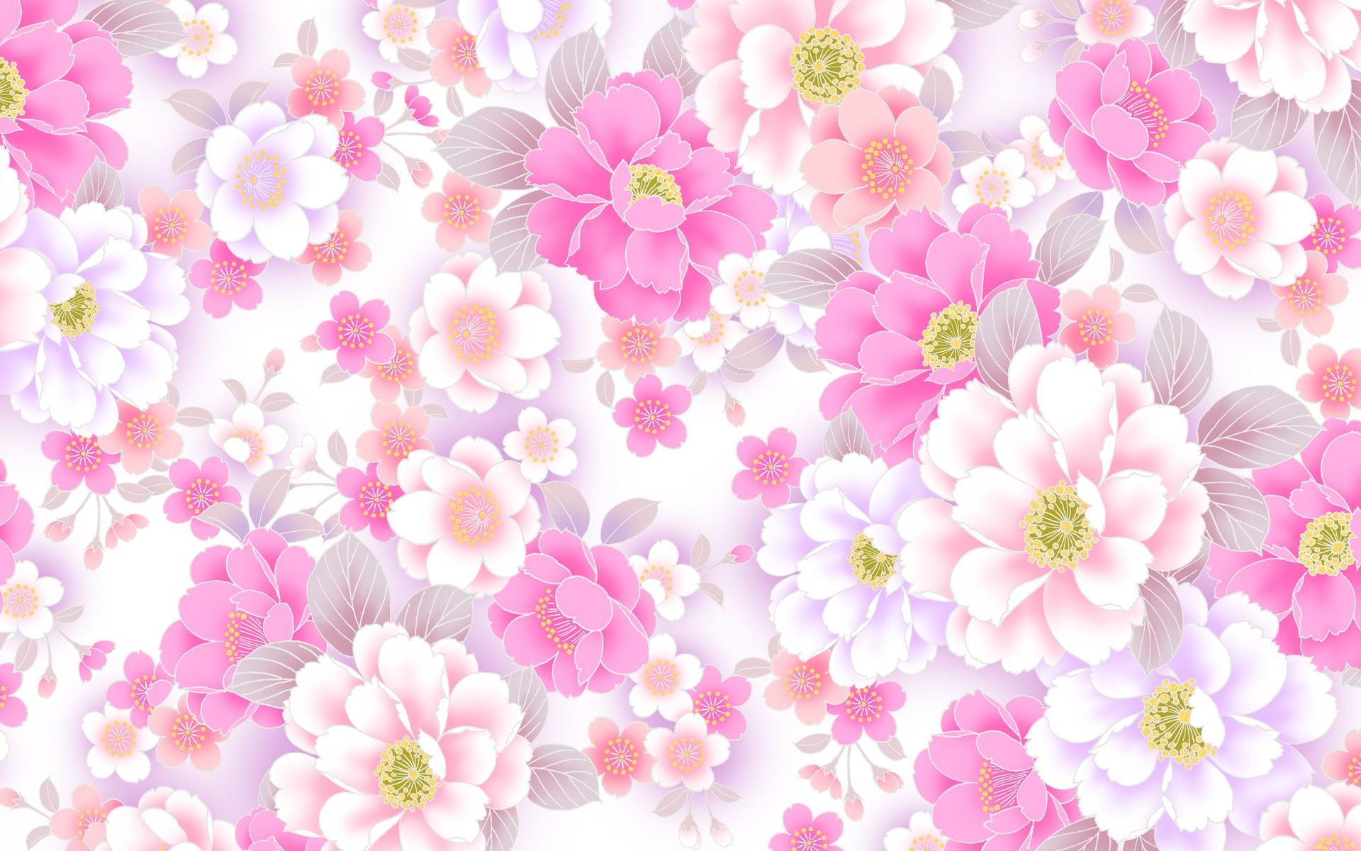 Pink flower wallpaper designs