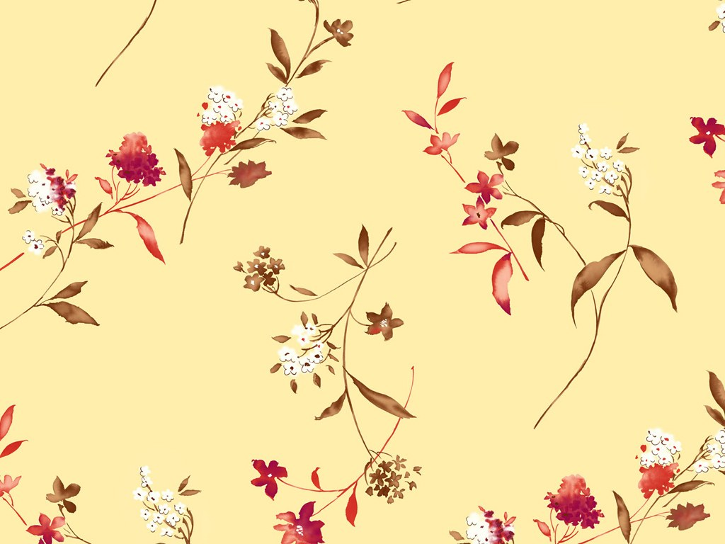 Flower Pattern & Colors in Japanese Style (Vol.2) 1024x768 ...