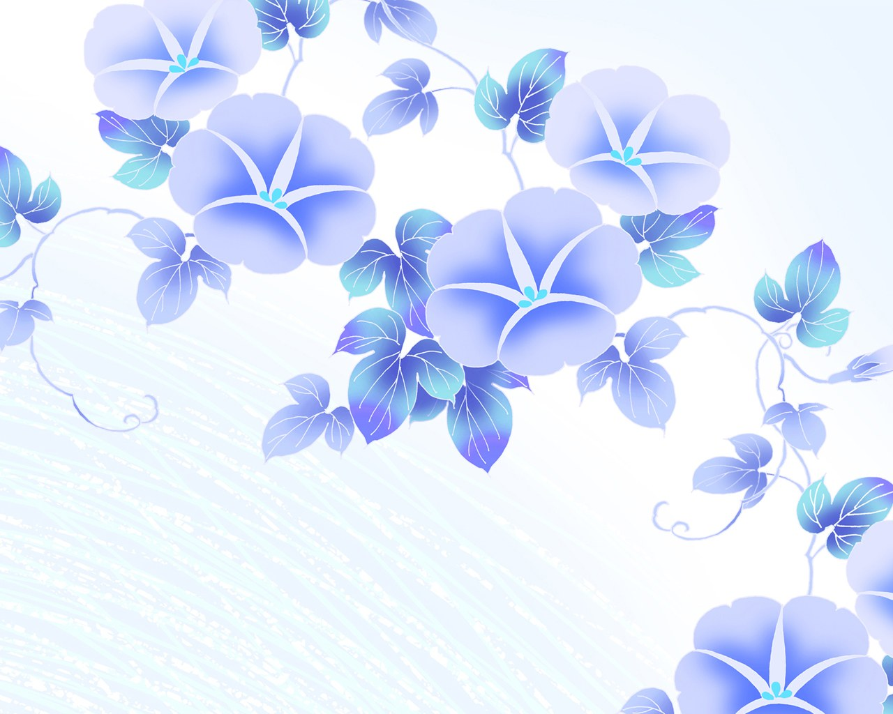 simple blue flower wallpapers - photo #5