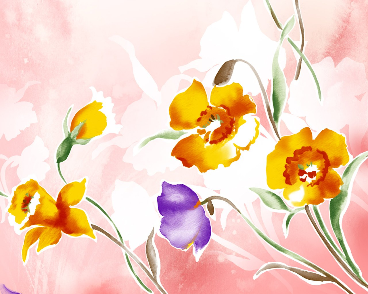 Illustration floral pattern flower design 1280 1024 wallpaper 23