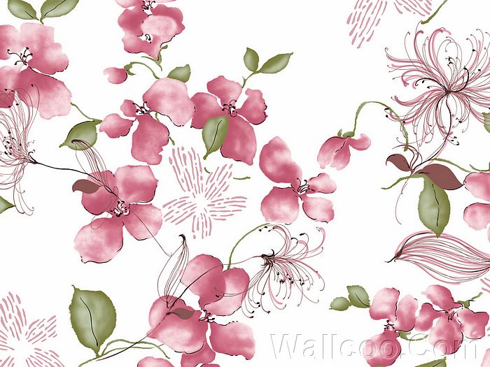 Artistic Floral Patterns And Flower Illustrations Vol02