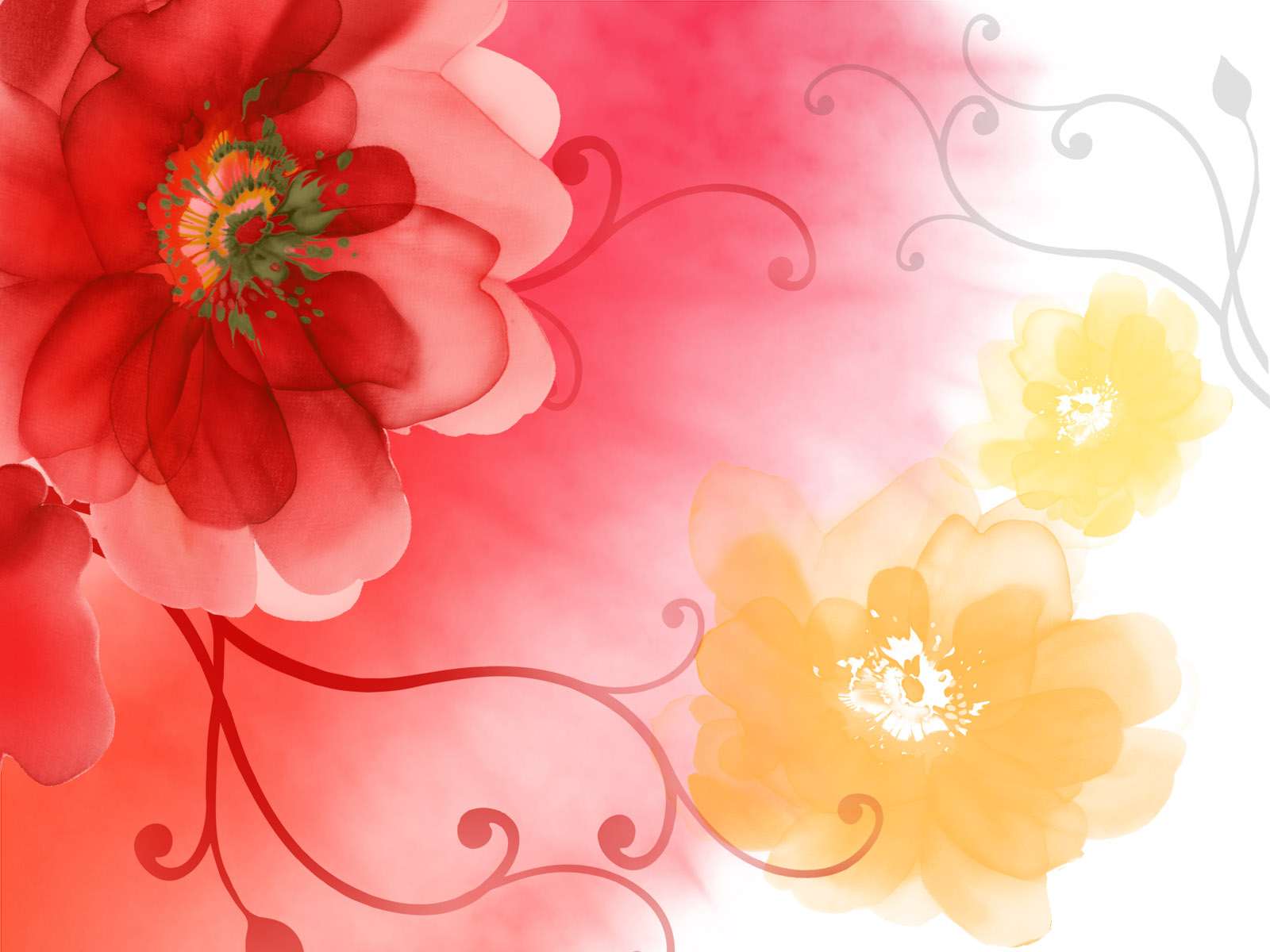 ... - Flower Paintings - Flower Backgrounds 1600*1200 Wallpaper 39