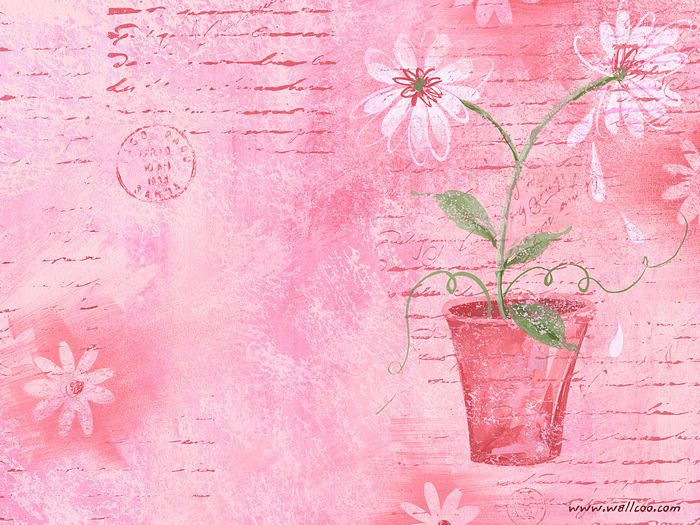 Artistic flower pot in pink background 4 wallcoo floral pattern design and floral graphics artistic flower pot in pink background picture 4 mightylinksfo