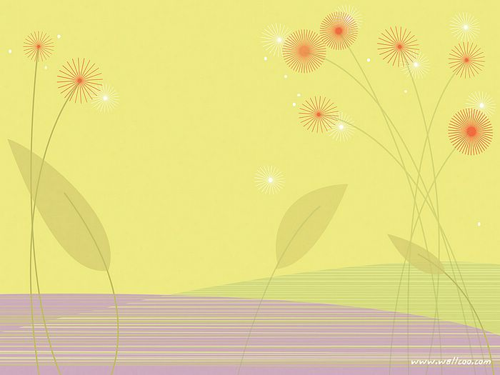 ... Graphics - Graphic Dandelions in soft yellow background Picture 17