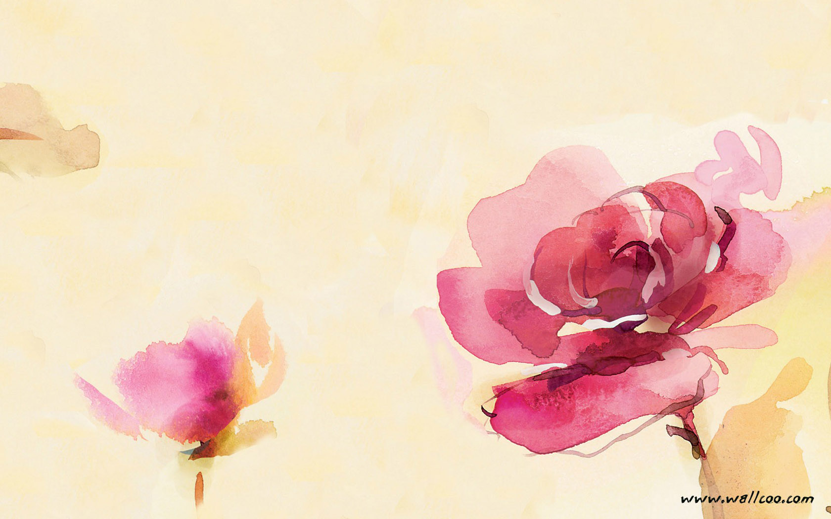 flower painting watercolor wallpaper - photo #14