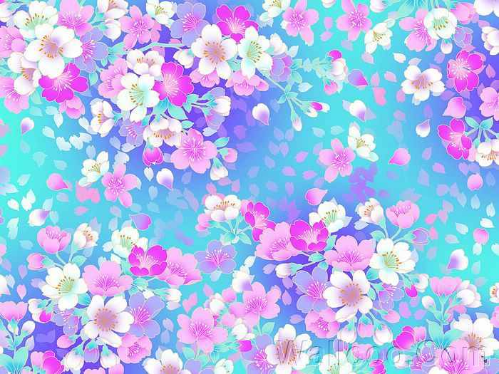 Simple flower pattern background - photo#15