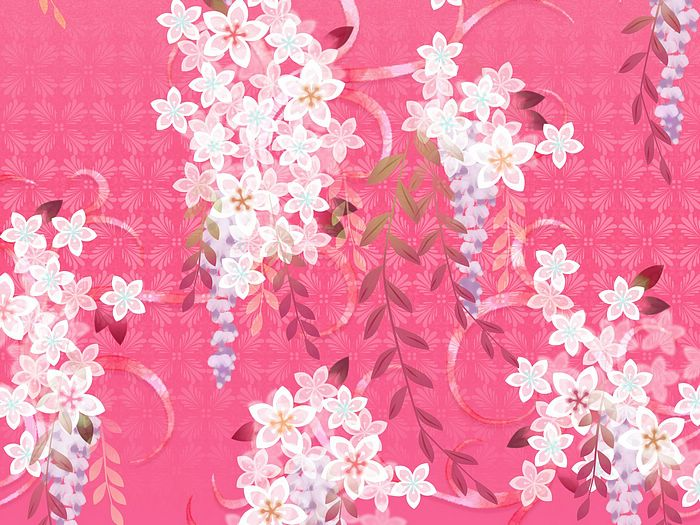 Sweet Floral Pattern Design  Japanese Floral Pattern