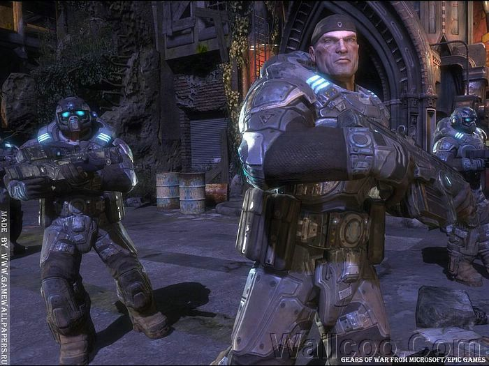 Marcus Fenix Gears Of War Character Wallpaper 5 Wallcoo Net