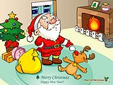 Funny Christmas Illustration - Christmas Vector Cartoon Wallpaprs28 pics
