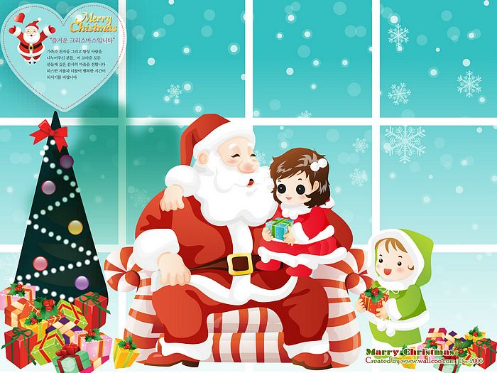 cartoon santa claus wallpaper