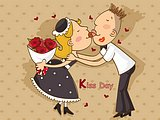 illustration of Sweet Lovers in Valentine's Day20 pics