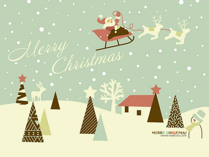 Christmas Illustrations In Mixed Styles