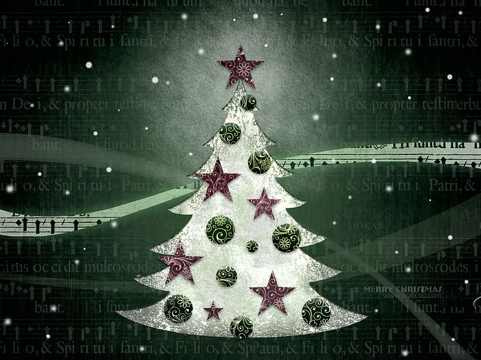 Green textured background white christmas tree abstract christmas