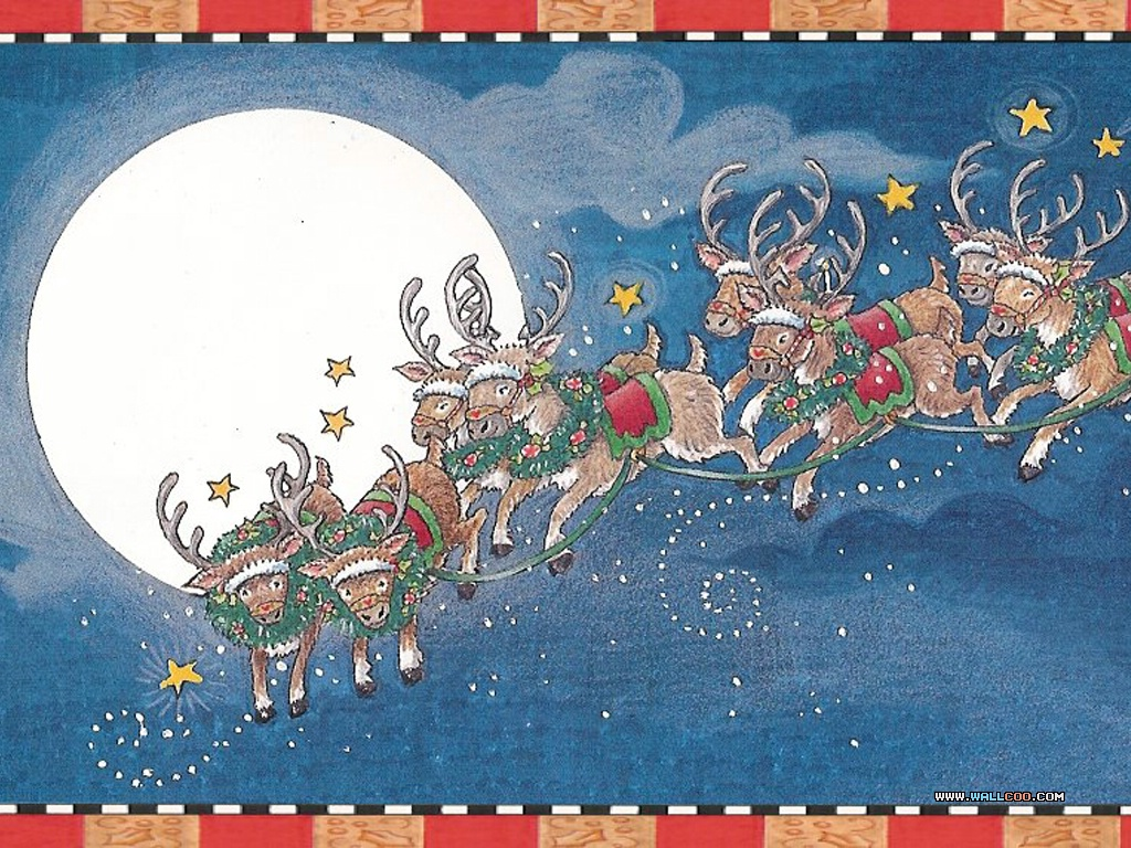 Wallpapers Of The Night Before Christmas Illustration 1024768 NO3 Wallpaper