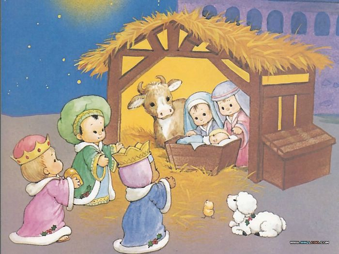 Magi found Mary and Jesus in the barn - The Nativity scene ...
