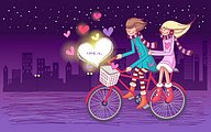Love is ... Sweet Valentine Couple Art illustrations20 pics