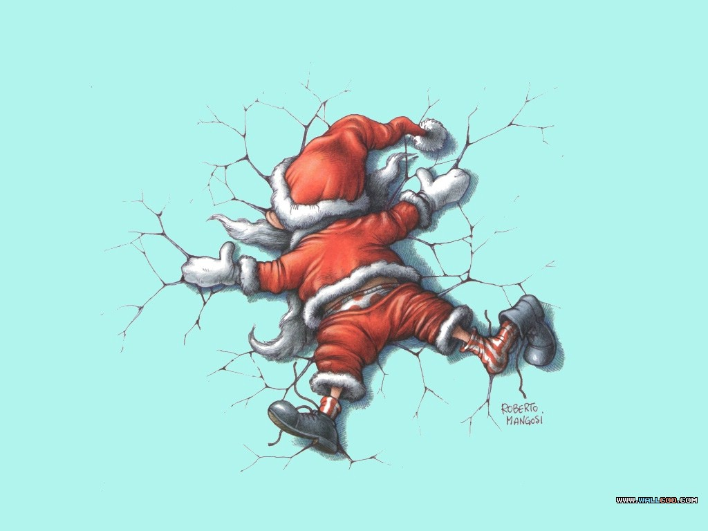 Funny santa wallpapers 1024x768 no 4 desktop wallpaper - Free funny christmas desktop wallpaper ...