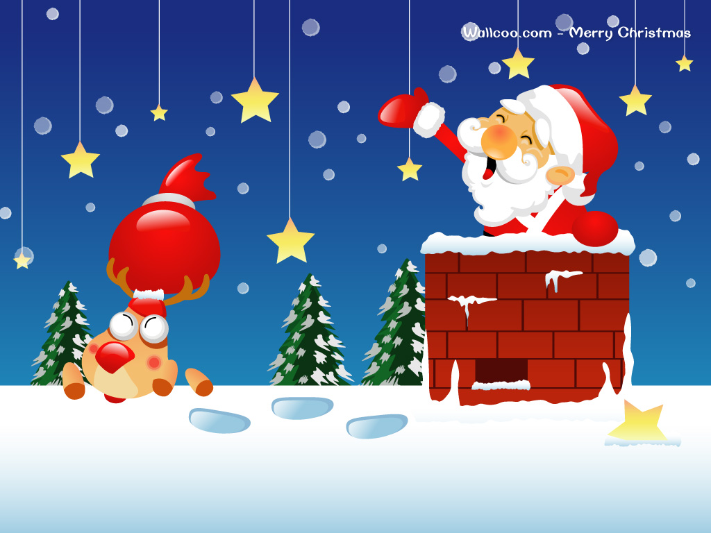 adult christmas cartoon wallpaper - photo #11