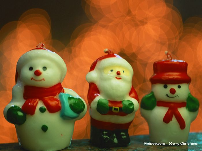 Santa Claus And Snowman Wallpaper Cute Snowman Santa Claus