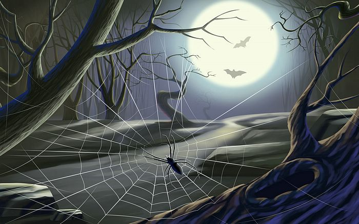 1920x1200 halloween illustrations halloween haunts 1920x1200 halloween spider picture halloween illustration 11 - Halloween Spiders