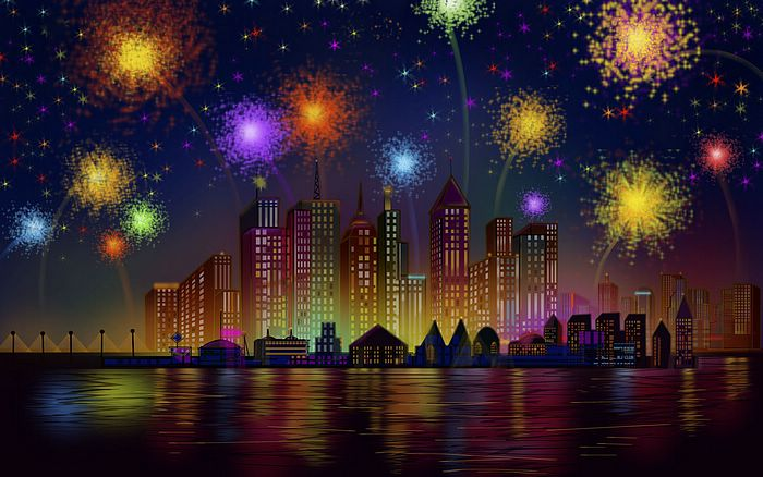 fourth of july fireworks background. July Fourth illustration