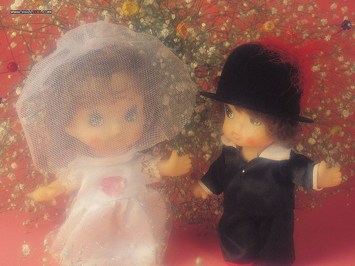 Wedding Dolls Couple Valentine S Day Wallpaper 6 Wallcoo Net