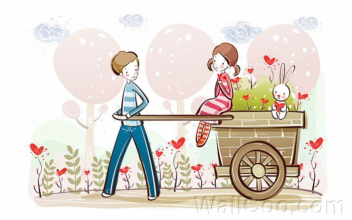 Couple illustrations cute valentine couple valentine s day