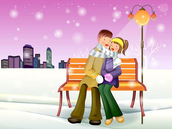 romantic lovers wallpapers. Christmas Lovers Wallpaper