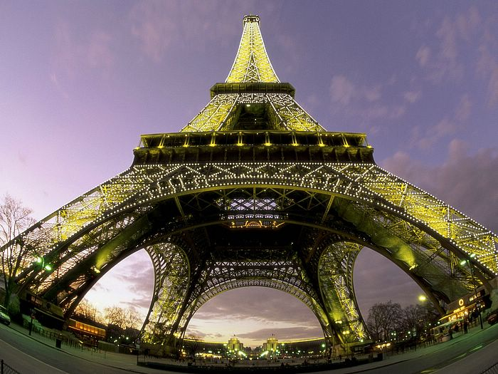 Attractions vol 04 、photo of eiffel tower from below paris france