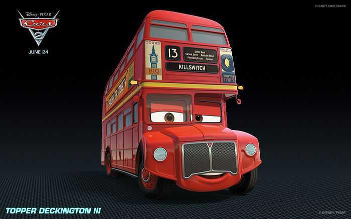 bus in cars 2 movie wallpapers 22. Black Bedroom Furniture Sets. Home Design Ideas