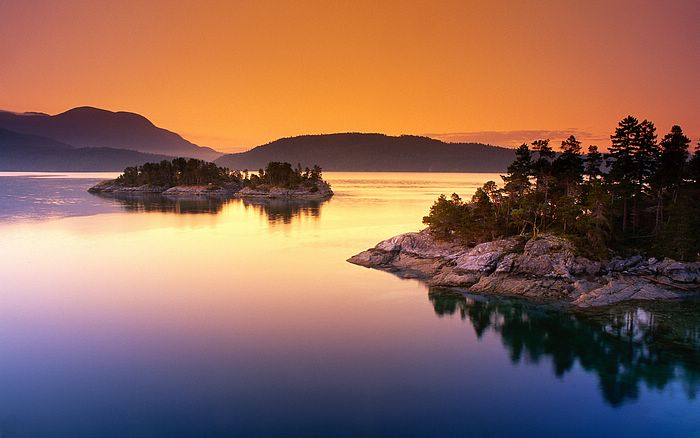 at Dusk - Tranquil Scenery Wallpaper ?Beautiful and Tranquil Landscape