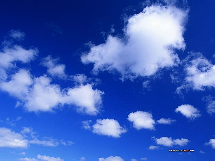 White Cloud Blue Sky