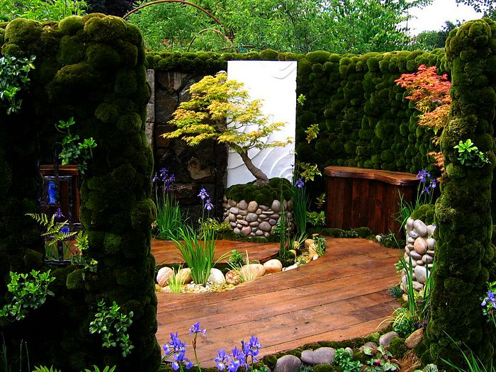English garden pictures the japanese moss garden for Flowers for japanese gardens