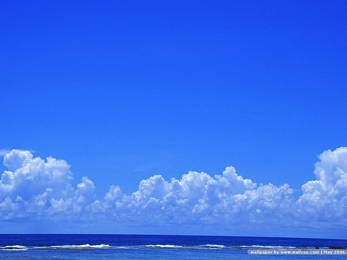 Sea Amp Blue Sky Wallpapers Blue Sea Under Blue Sky11
