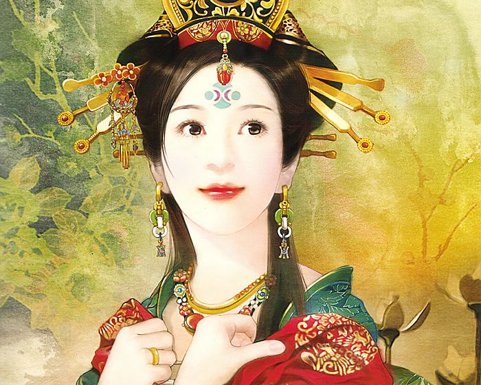 Beauty by der jen the ancient chinese beauty art painting wallpaper