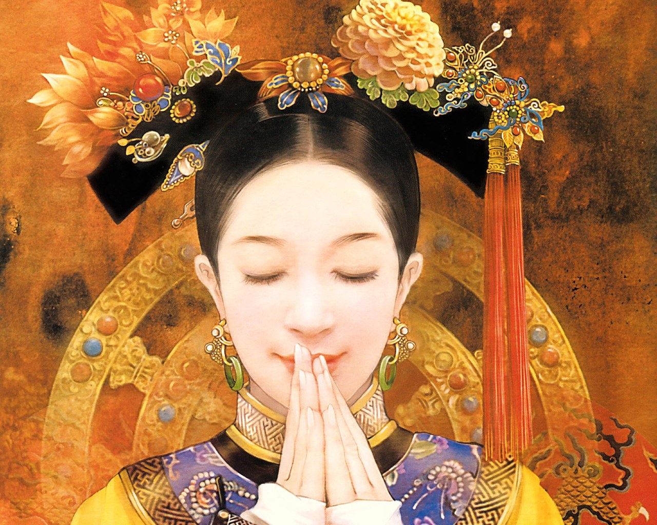The ancient chinese beauty chinese ancient beauty art - Ancient chinese art wallpaper ...