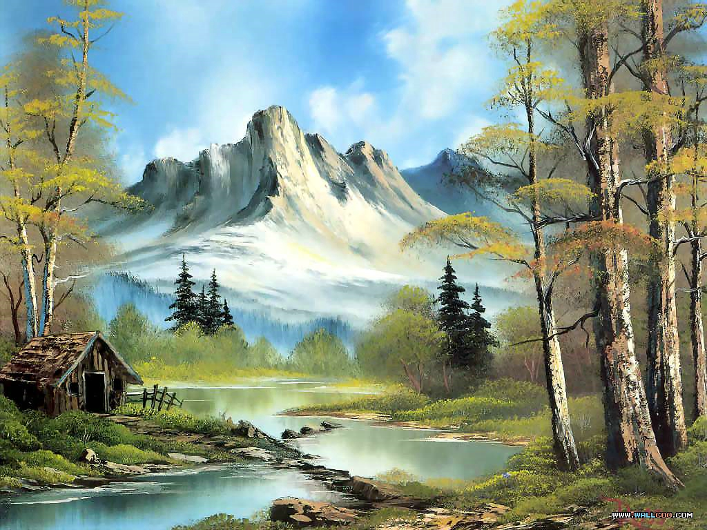 Painting by Bob Ross