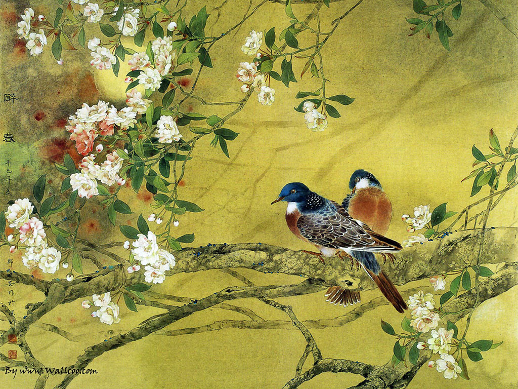 Paintings : Chinese Gongbi Paintings , Flower-and-Bird Painting ...
