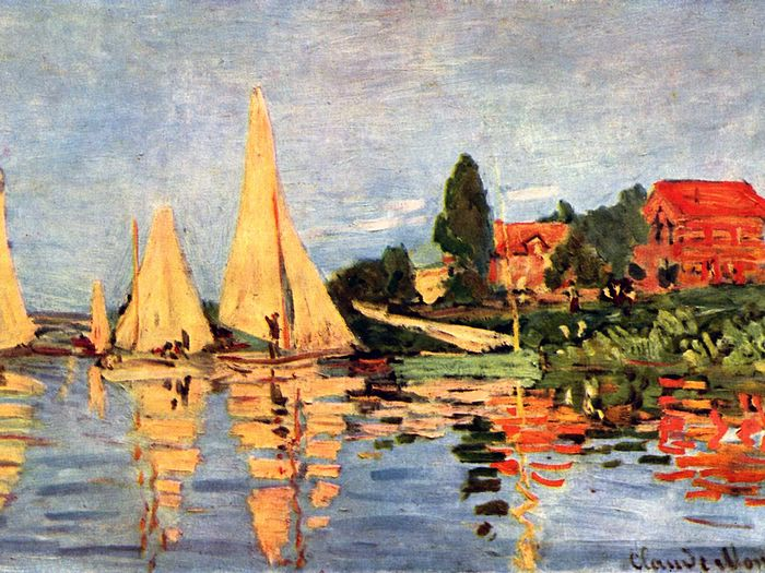 Impressionist painting : Claude Monet Paintings HD Wallpapers  - Claude Monet Painting : The Regatta at Argenteuil , 1892, 3