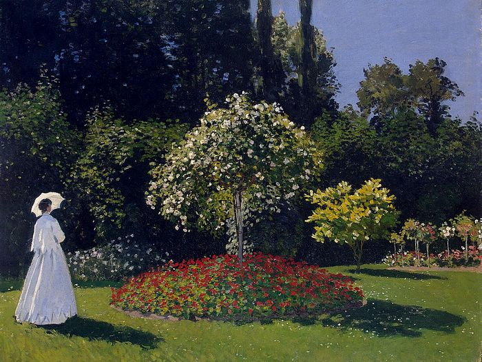 Impressionist painting : Claude Monet Paintings HD Wallpapers  - Claude Monet Painting : Woman in the Garden, Sainte-Adresse, 1600*1200  4