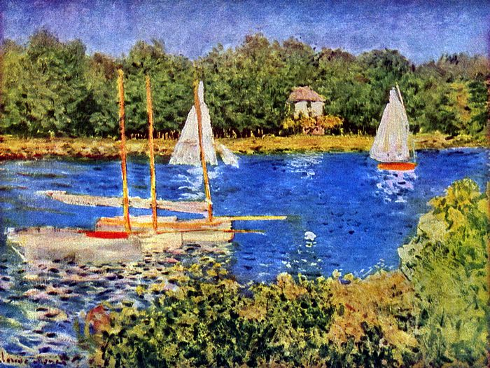 Impressionist painting : Claude Monet Paintings HD Wallpapers  - Claude Monet Painting : Le Bassin d'Argenteuil , Claude MONET 1874  27