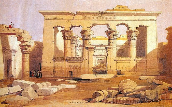 ancient egyptian architecture great portico of kalabasha wallpaper