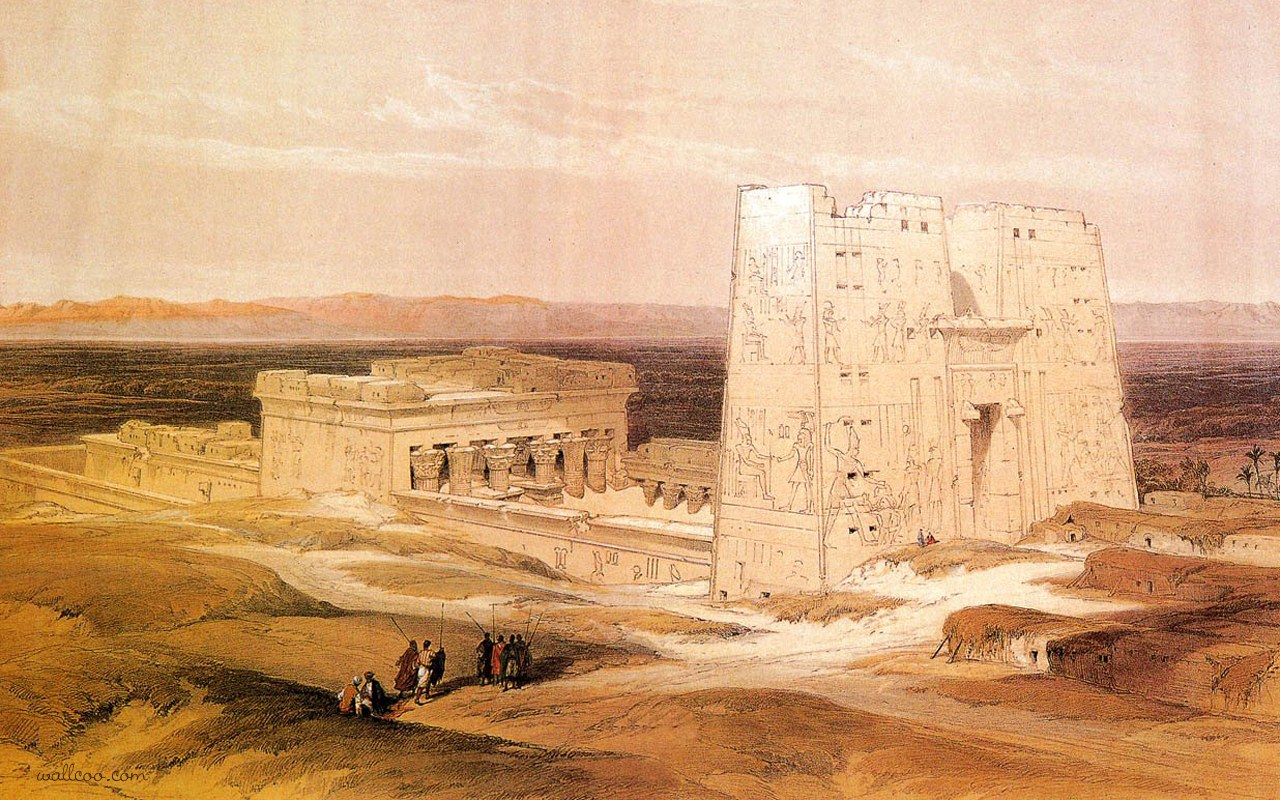 david roberts paintings the ancient egyptian