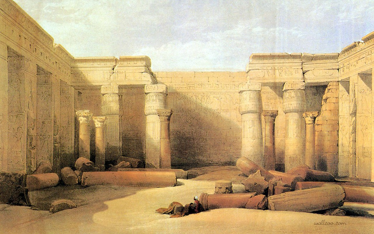 David roberts paintings of the ancient egyptian for 3d wallpaper for home egypt