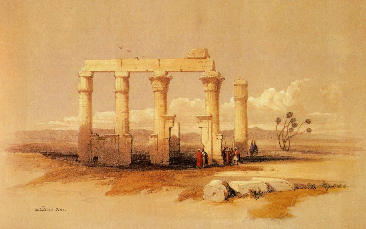 Painting of ancient places on pinterest beijing for Ancient egyptian mural paintings