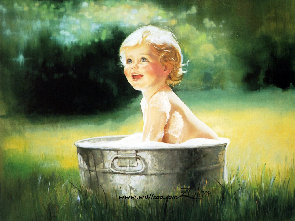 Heartwarming childhood paintings donald zolan 39 s oil for Paintings of toddlers